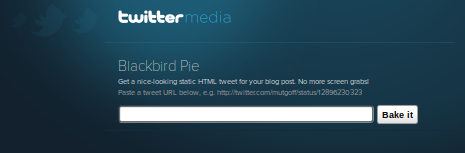 Twitter's BlackBird Pie