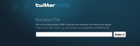 Twitter's BlackBird Pie