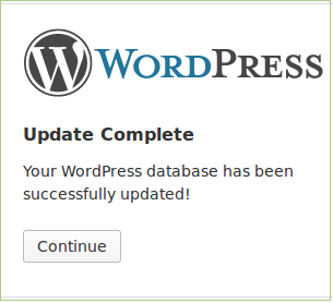 Wordpress Update Completed