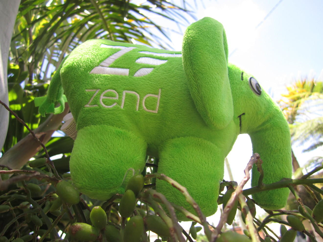 Green elePHPant In Mauritius