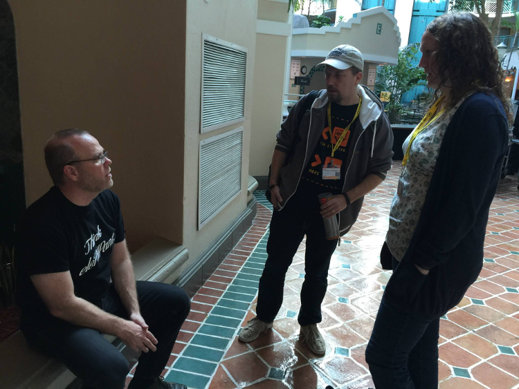 DragonBE with Rasmus & Lorna at SunshinePHP 2015