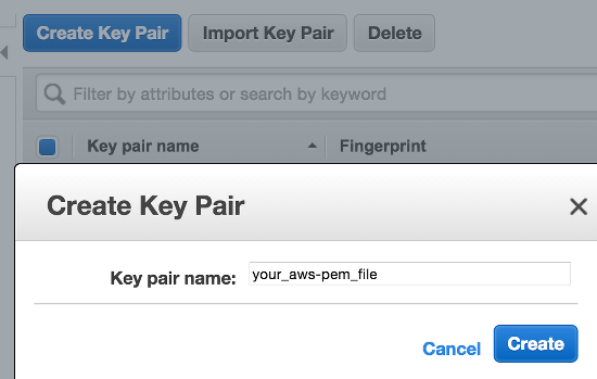 AWS - Create PEM File