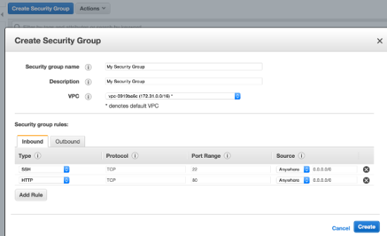 AWS Security Group Config