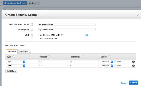AWS Security Group Config