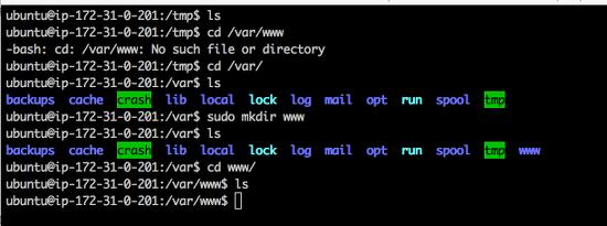 terminal-mkdir-www
