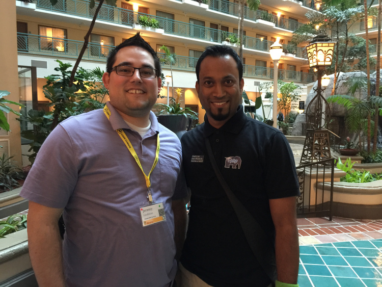 from L to R: Jeremy & 7PHP in Miami for SunshinePHP 2015