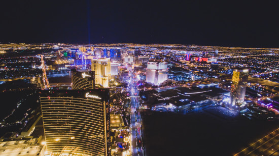 Aerial View Of The Las Vegas Strip At Night