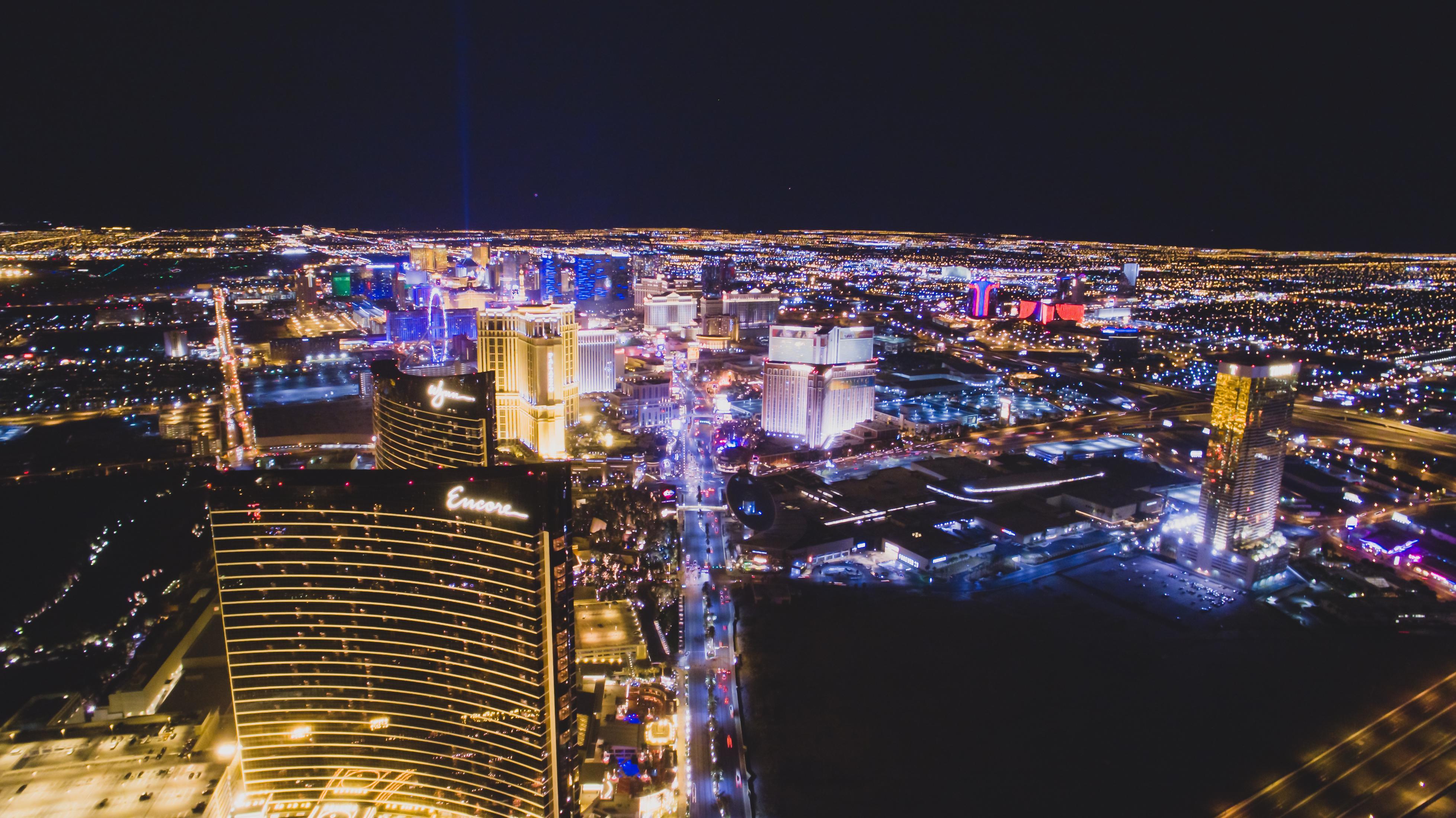 Aerial View Of The Las Vegas Strip At Night